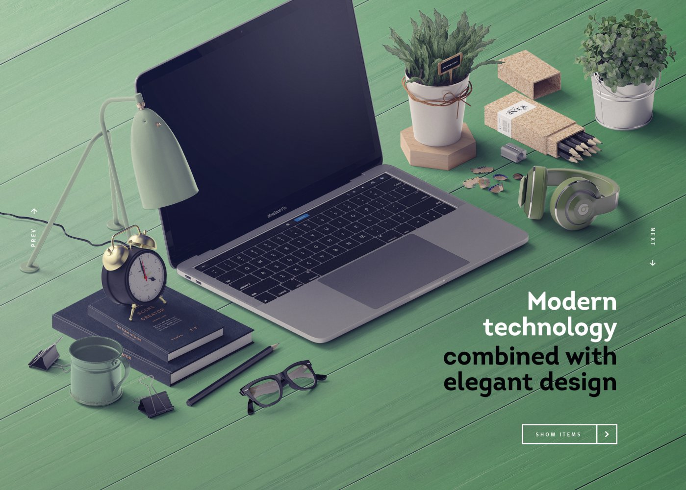 Free Premade Scenes Modern Technology Mockup PSD