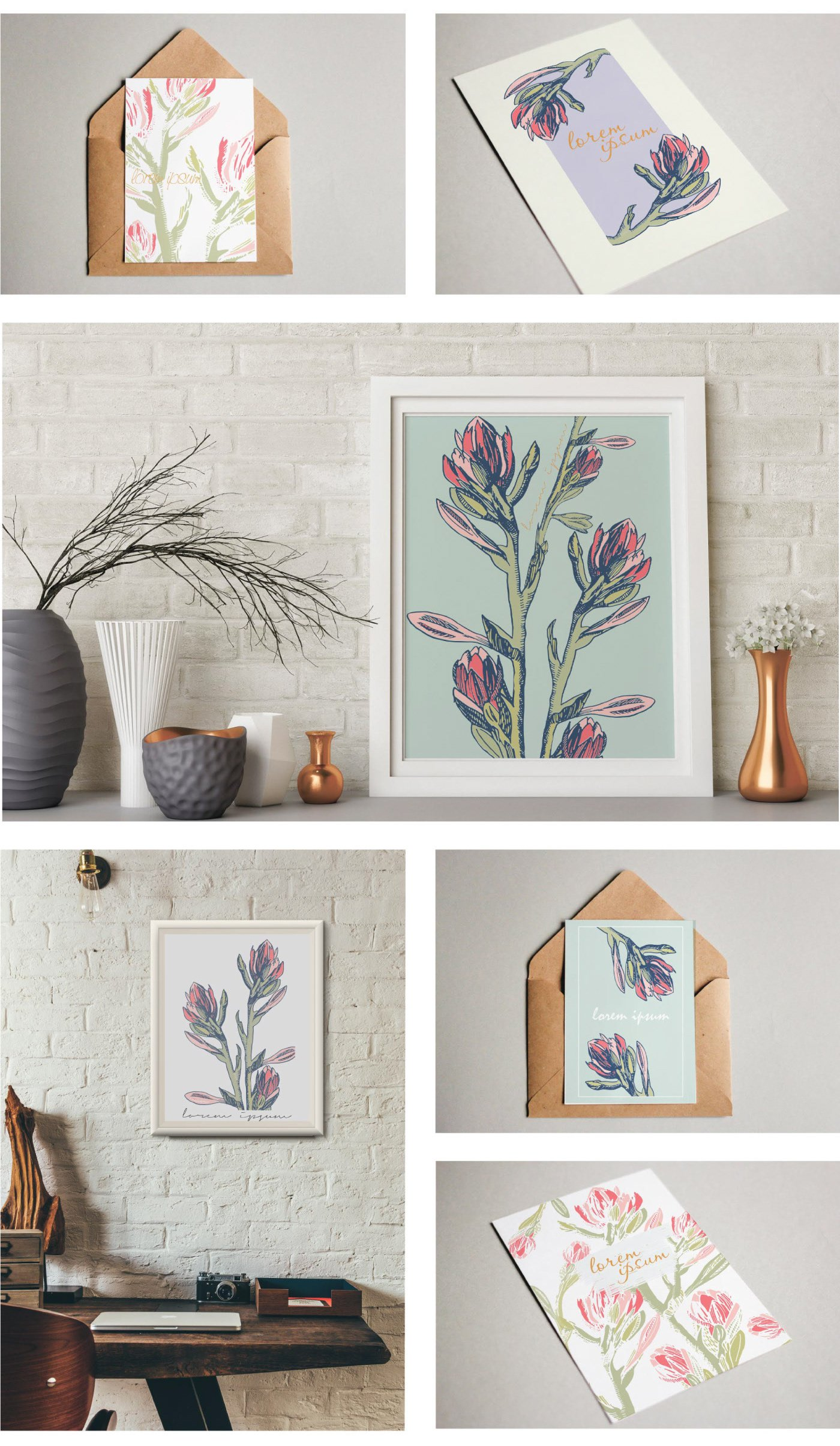 10 Beautiful Floral Cards eps