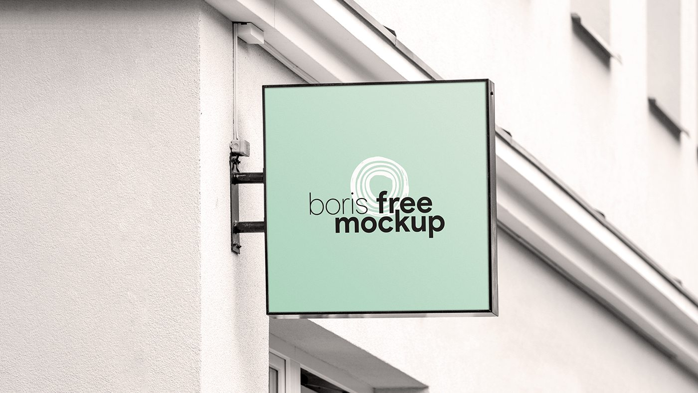 Free PSD Shop Signs Mockup Bundle