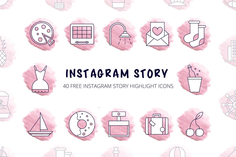 40 Free Instagram Story Highlight Icons скачать бесплатно