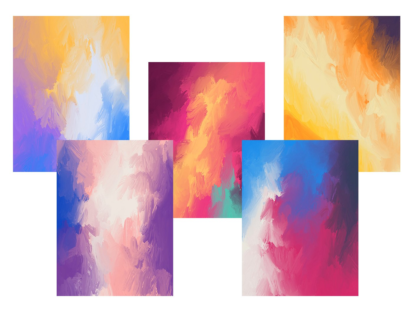 5 Abstract Oil Paint Background