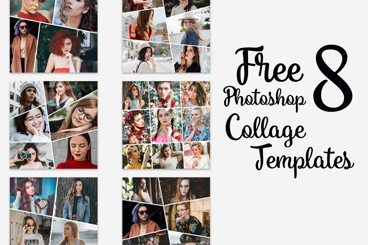 8 Free Photoshop Collage Templates