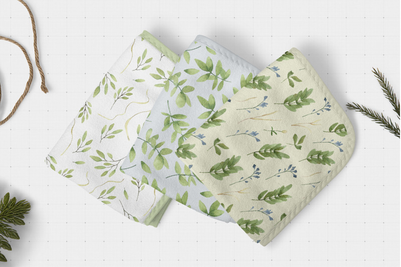 FREE Leaves and Wildflowers patterns png