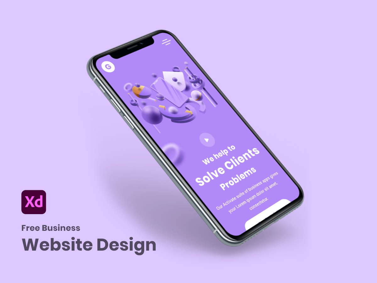 Free Business Website Design Adobe XD