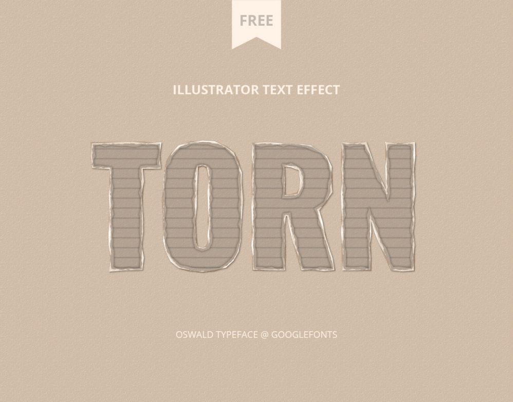 Free Cardboard Torn Text Effect Editable AI