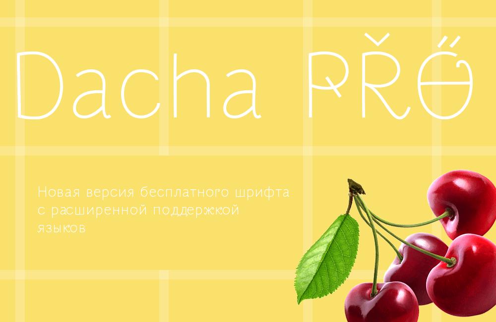 Шрифт Dacha Pro Cyrillic