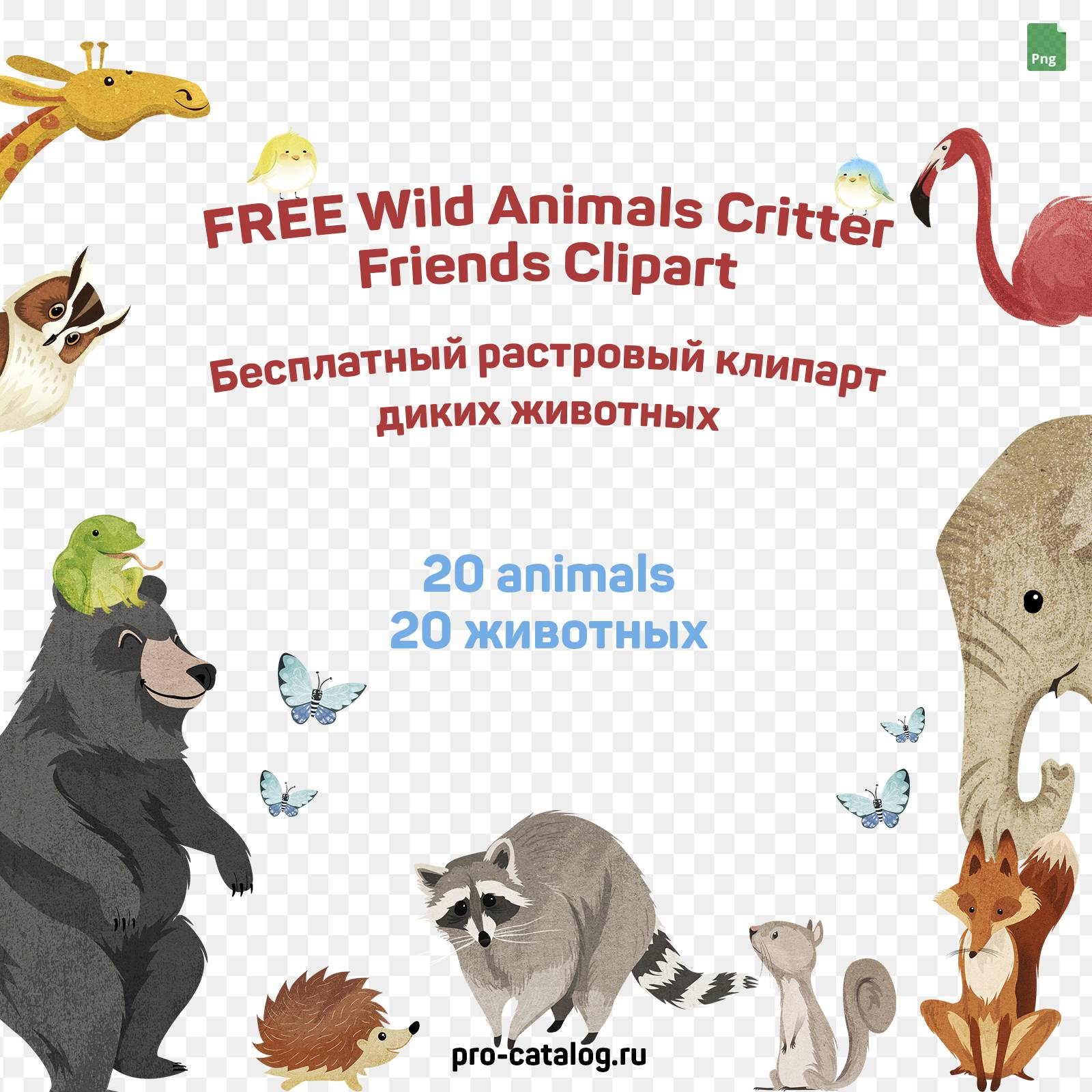 FREE Wild Animals Critter Friends Clipart