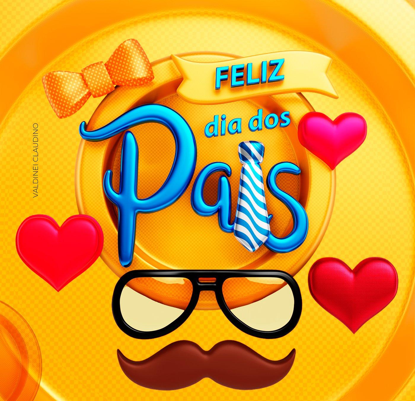 Растровый пак Elements 3D - Dia dos Pais в формате png