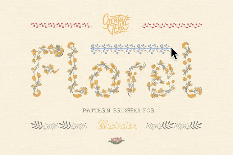 Floral Pattern Illustrator Brushes