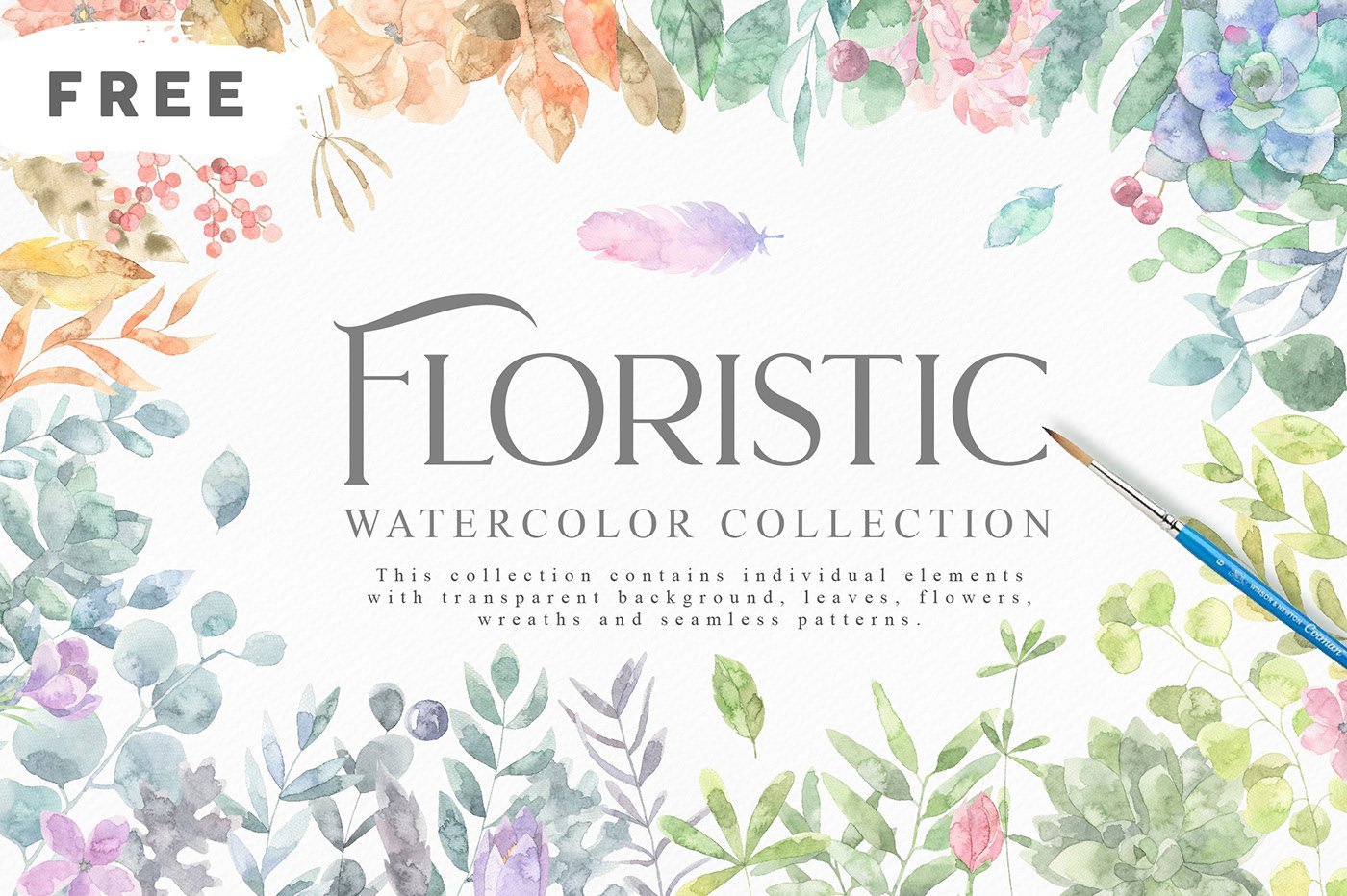 Free Floristic Watercolors Collection png