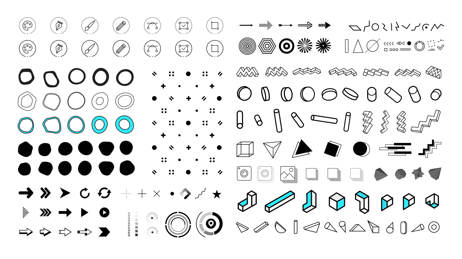 Free 200 Vector Shapes