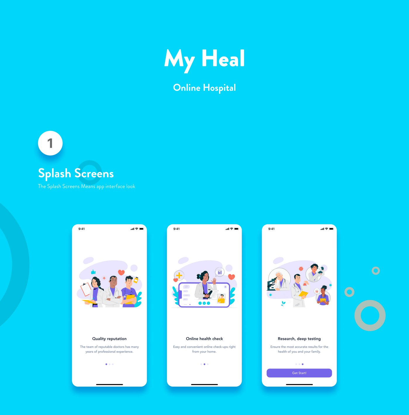 Free App My Heal UI Kit