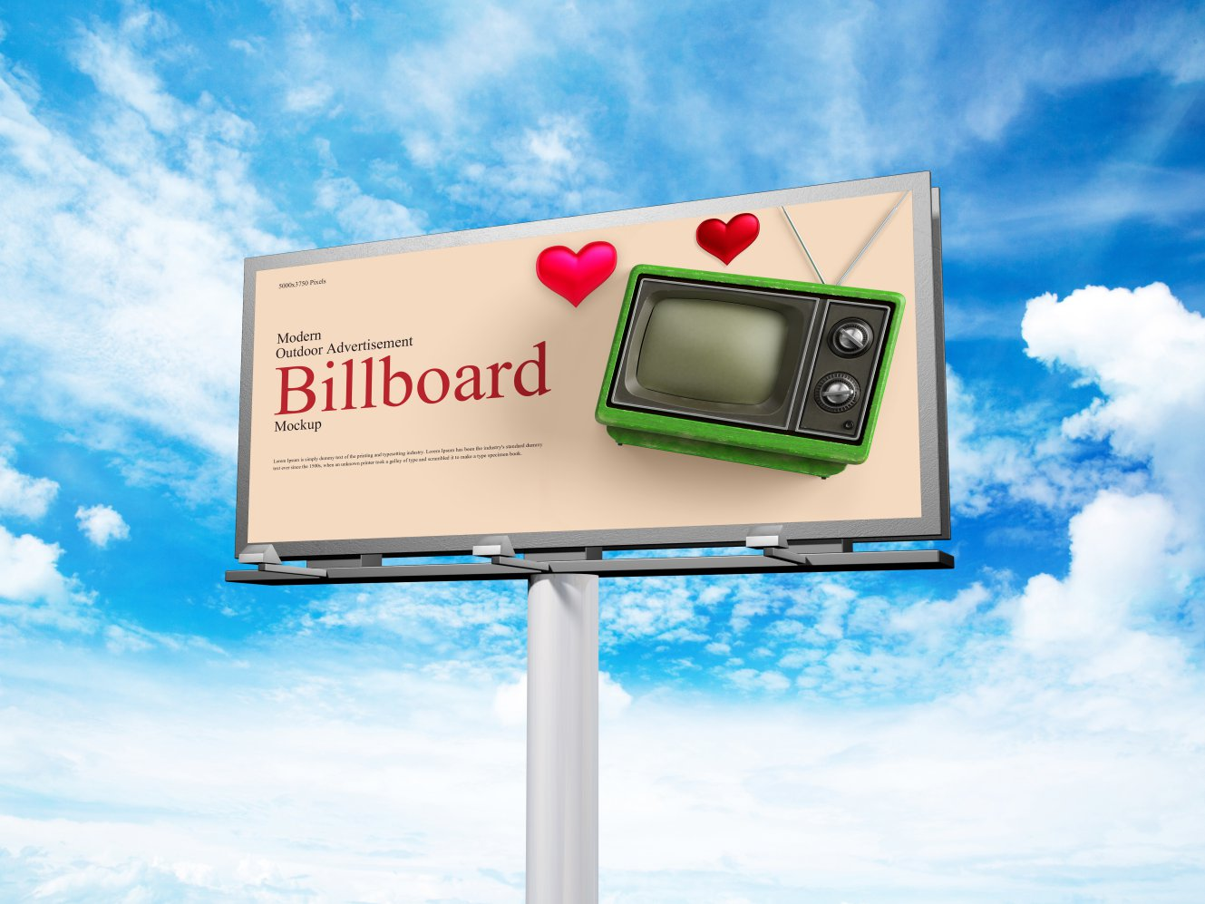 Free Modern Outdoor Advertisement Billboard Mockup скачать бесплатно