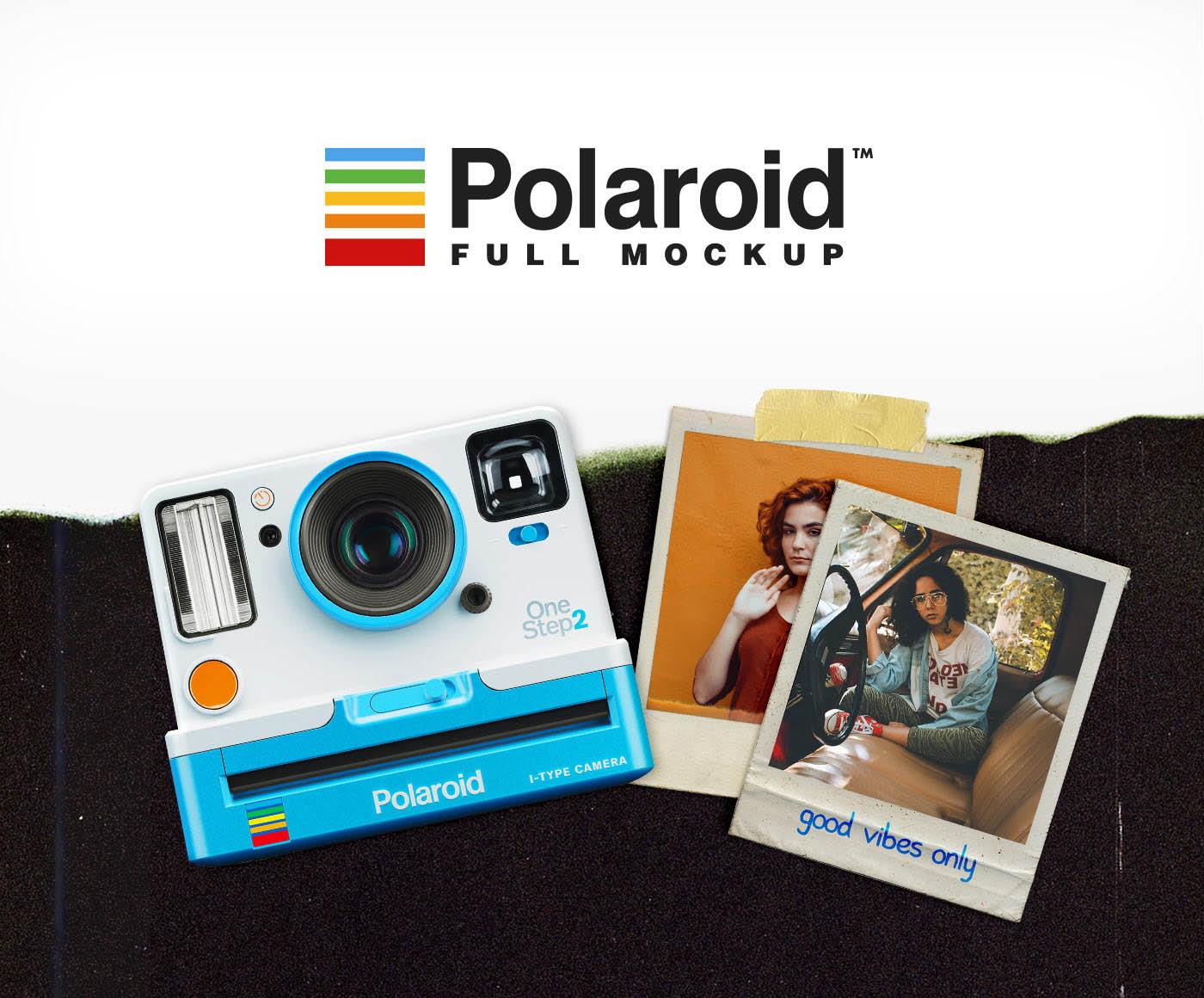 Free Polaroid Full Mockup скачать