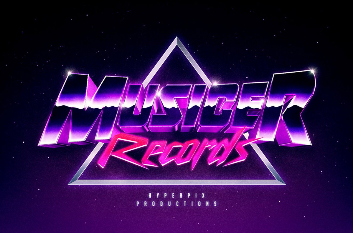 Free Synthwave 80s Text Effect Psd
