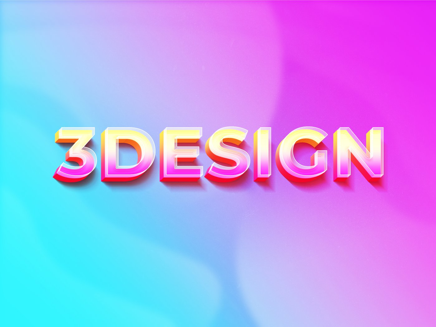 Glossy 3D Text Effect psd
