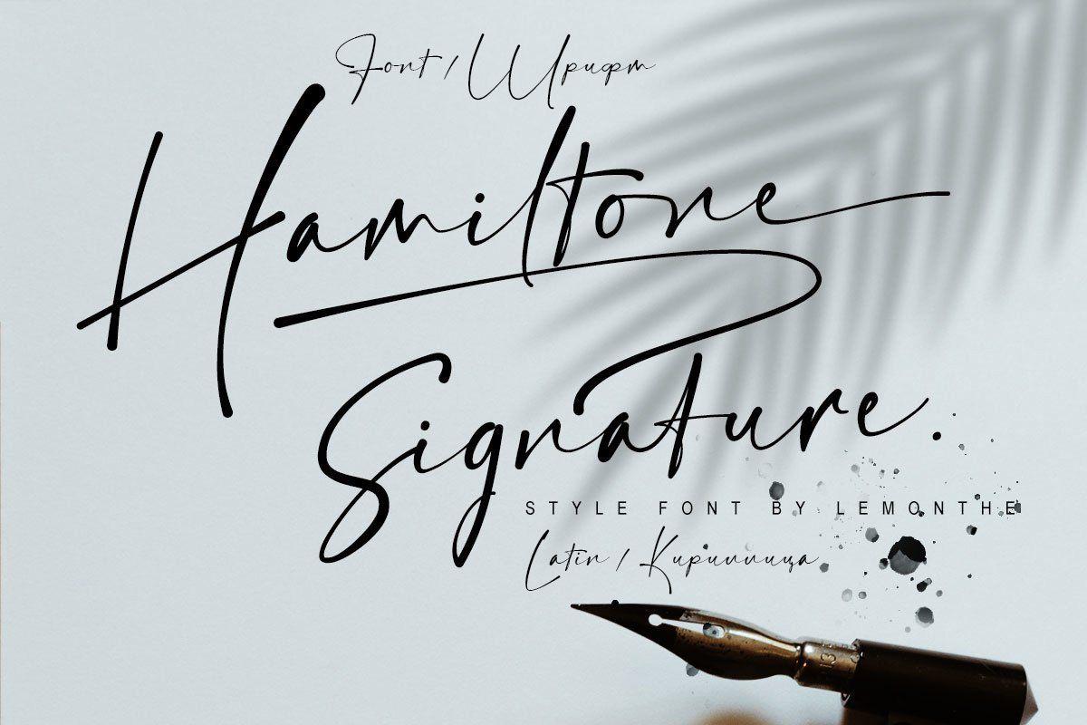 Шрифт Hamiltone Signature Cyrillic