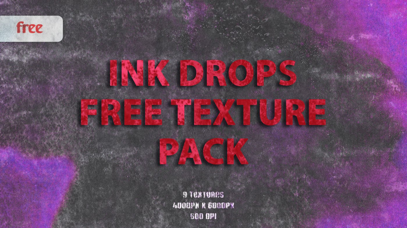Ink Drops Free Texture Pack