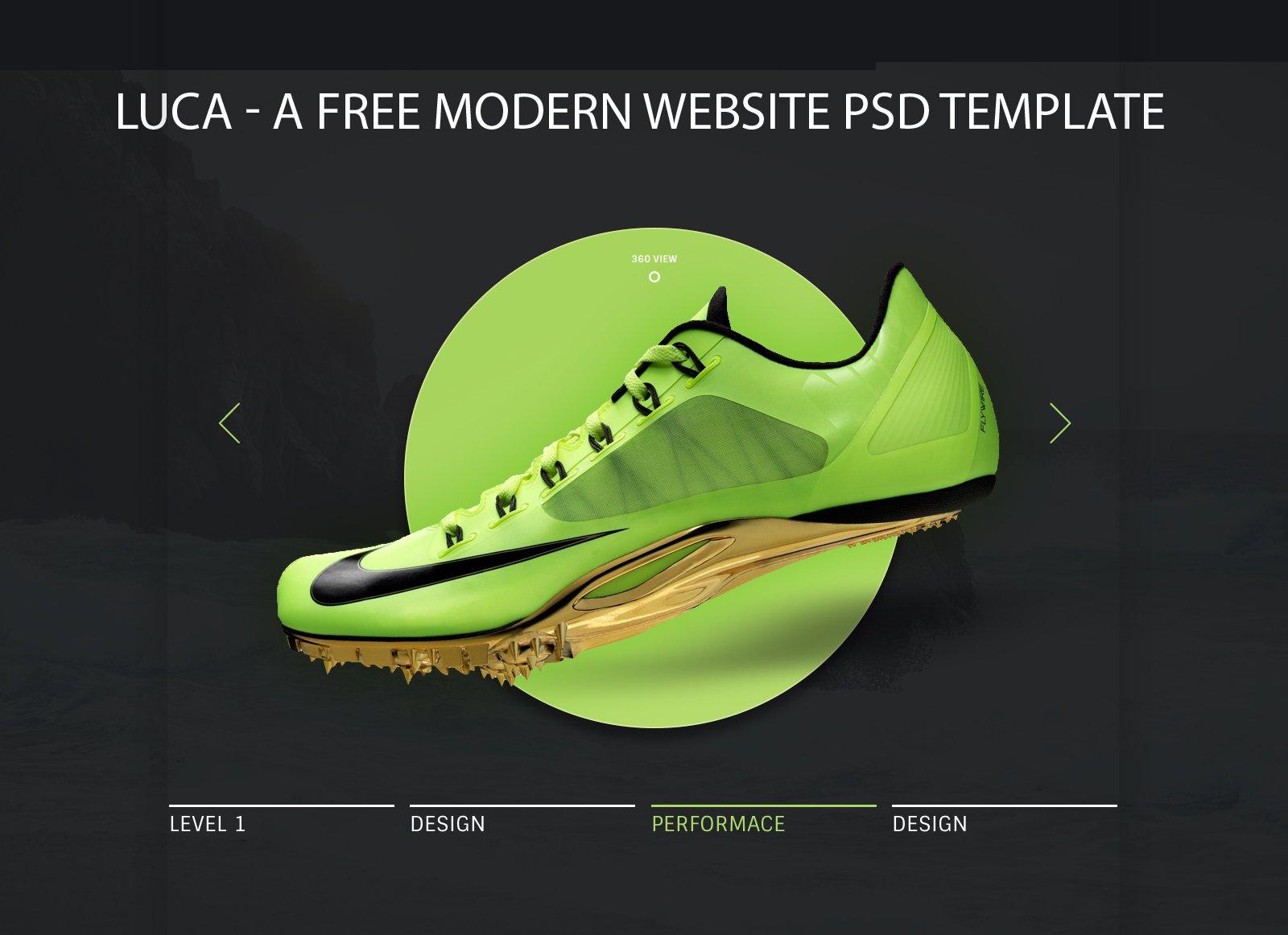 Luca - A free modern website PSD template скачать бесплатно