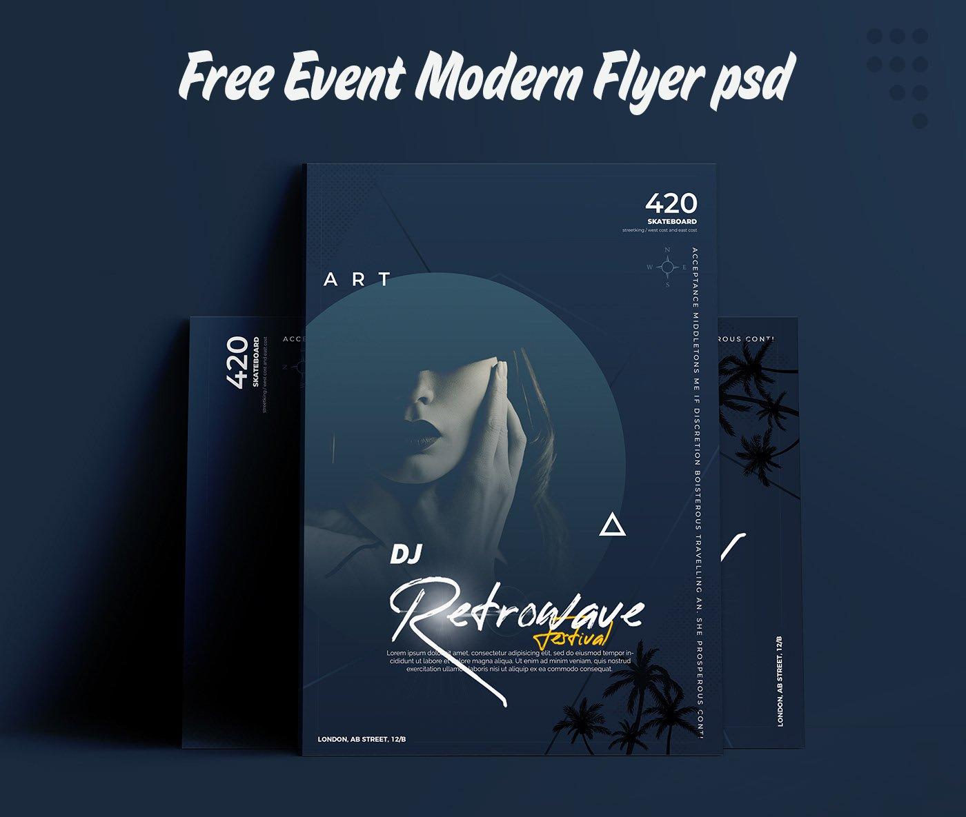 Free Event Modern Flyer скачать