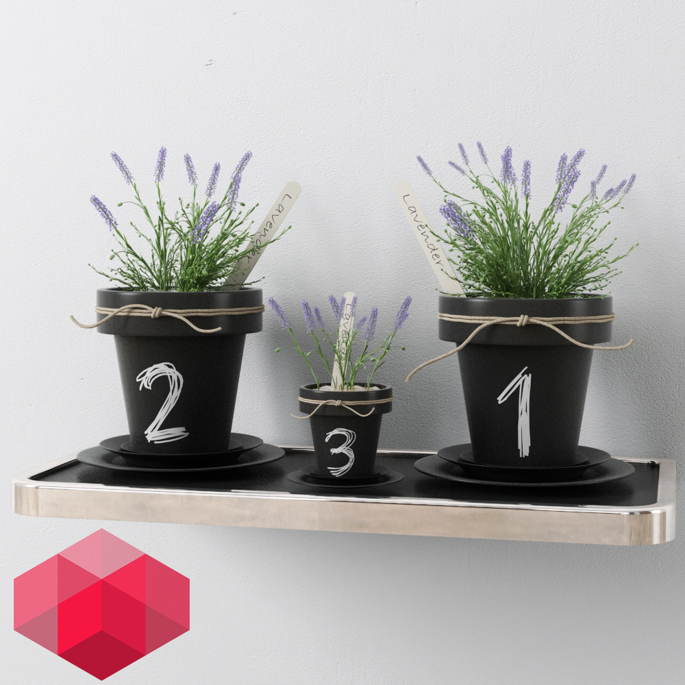 интерьер Free Plant for interiors / 3d max + RedShift render скачать
