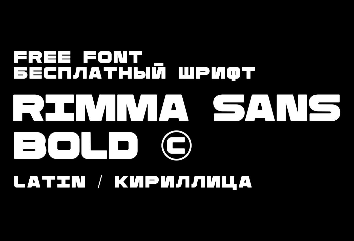 Шрифт Rimma Sans Bold Cyrillic