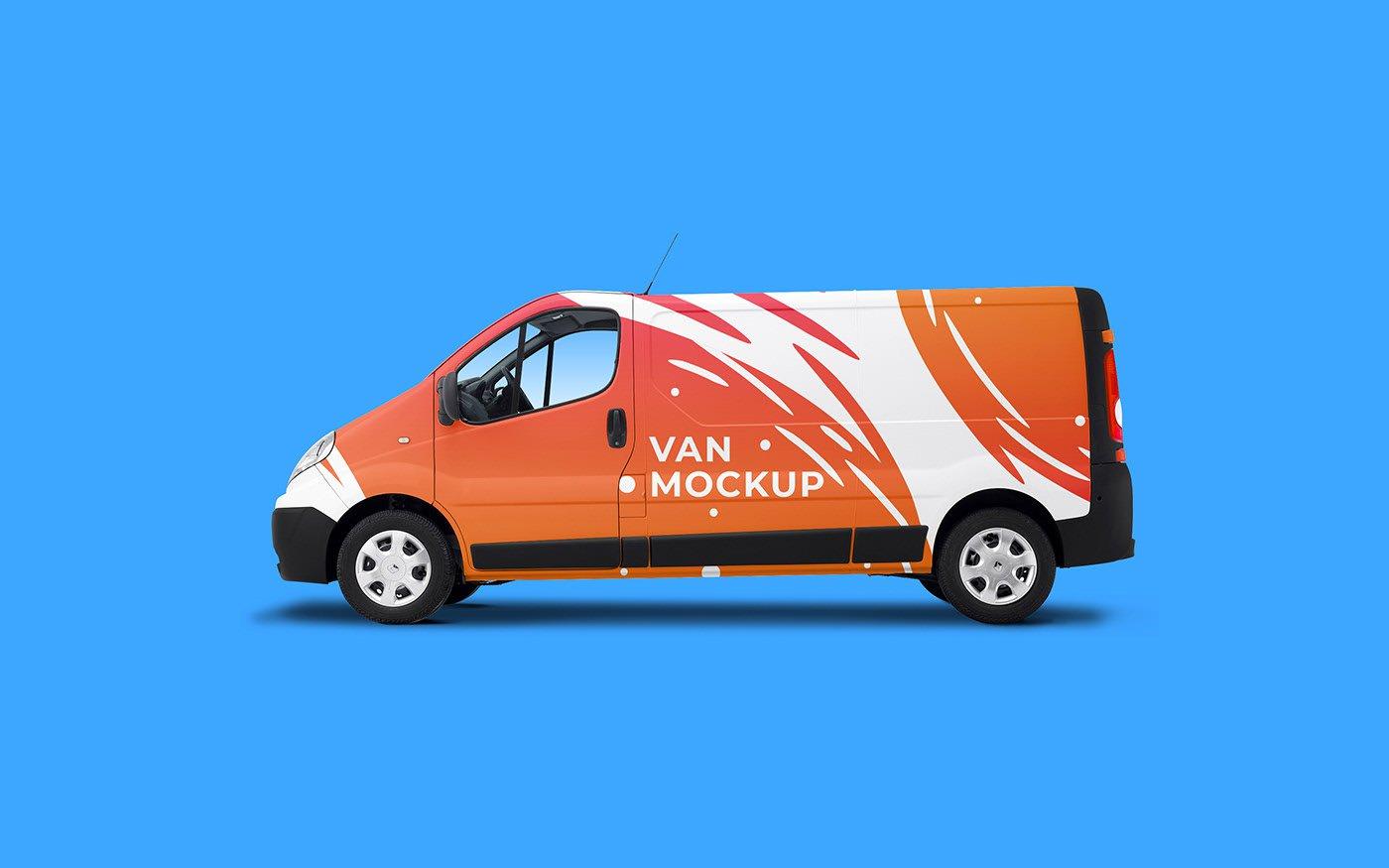 Van Renault Master Mockup Free