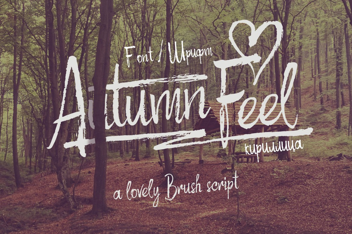 Шрифт Autumn Feel Cyrillic