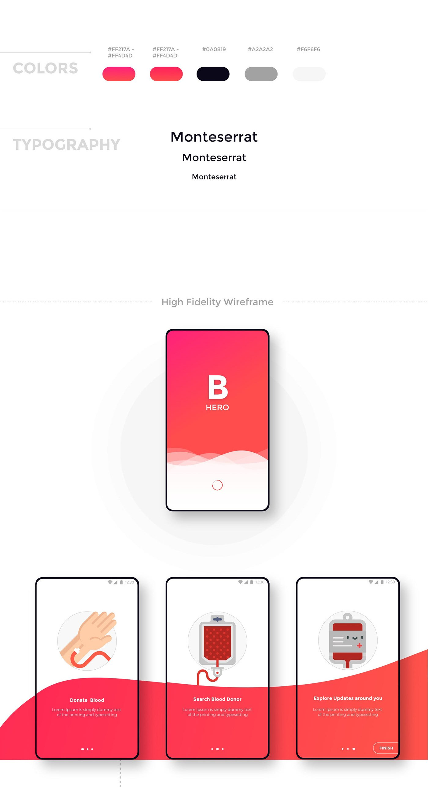 B Hero - Blood donation app free UI kit Adobe XD