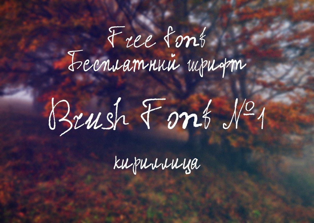 Шрифт Brush Font №1 кириллица