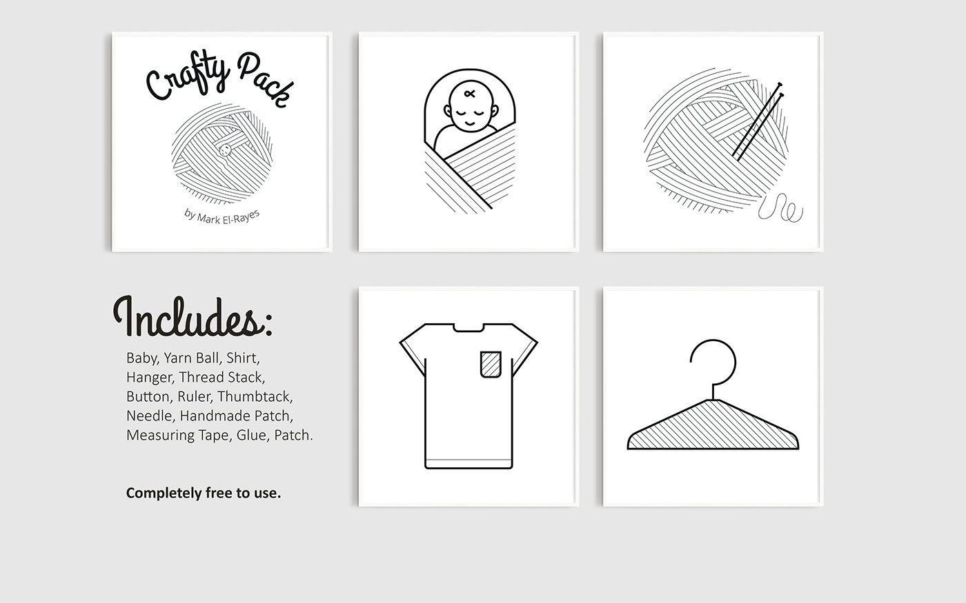 Baby Embroidery Free Icon Set