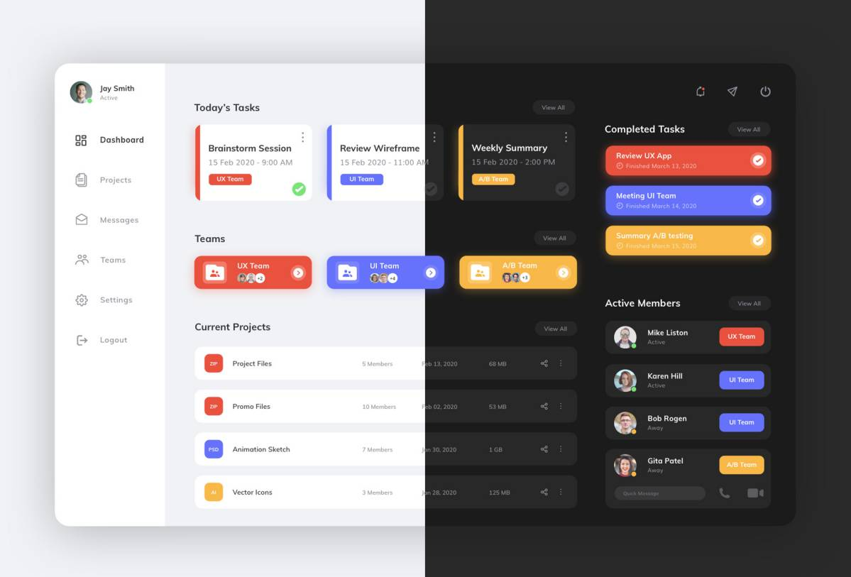Dashboard Free UI Kit Sketch
