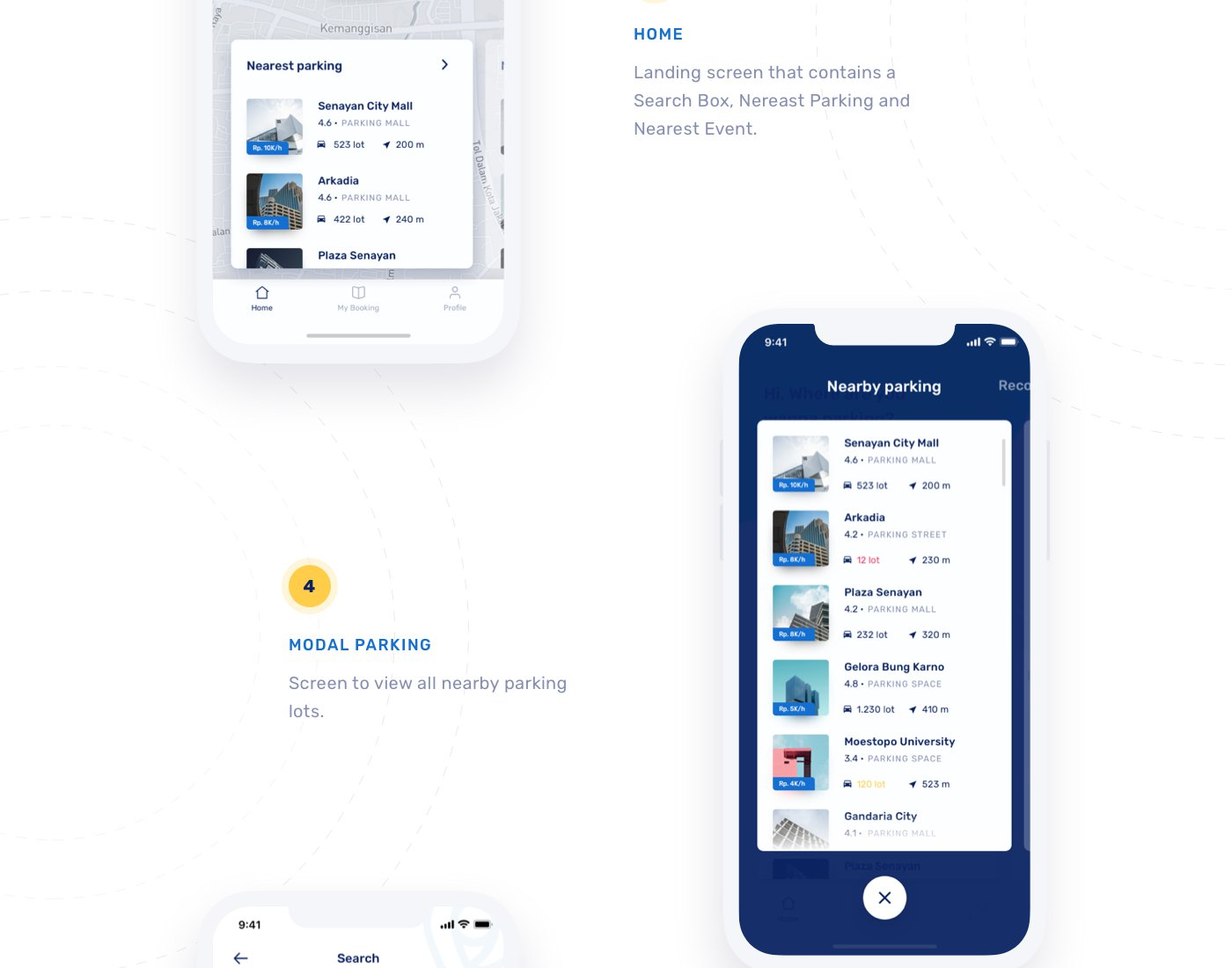 Free Easy Park Ios UI Kit Sketch