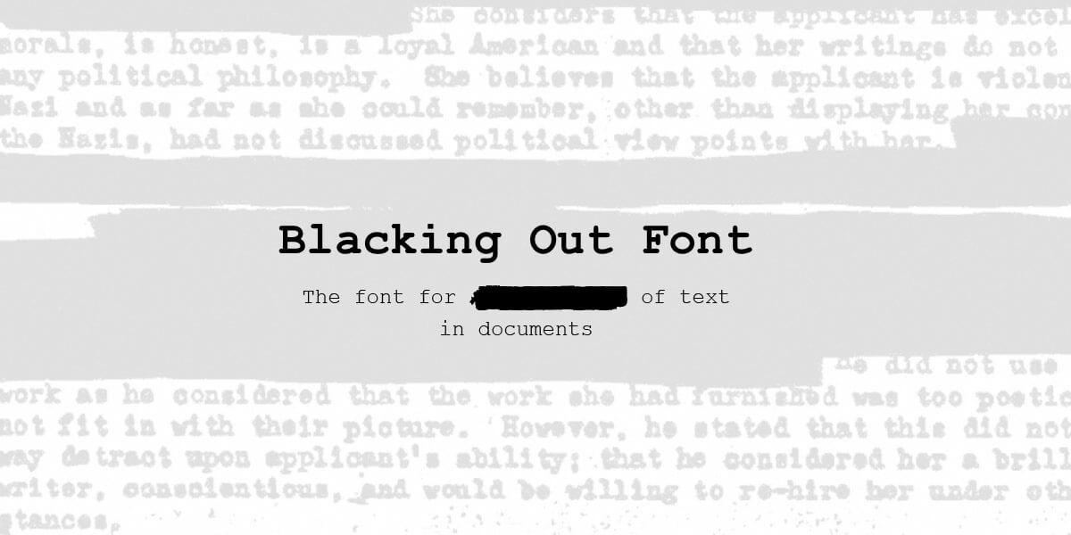 Шрифт с иконками FE Blacking Out