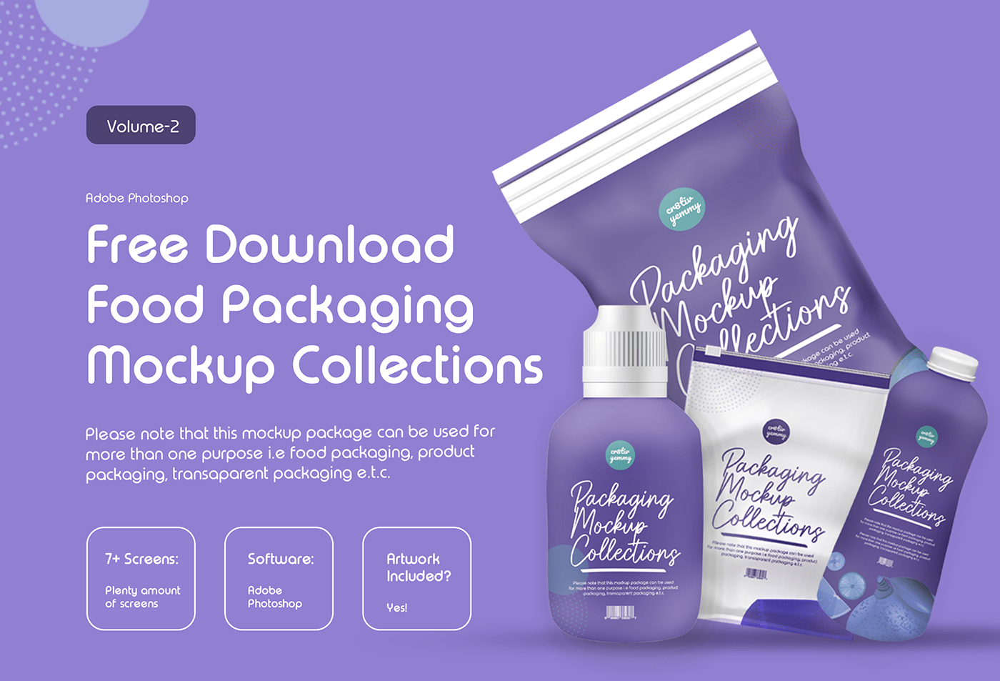 Food Packaging Mockup Collections Free Download - Volume 2