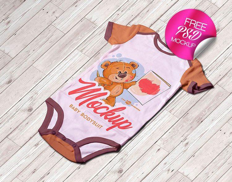 Free Baby Bodysuit Mockup PSD
