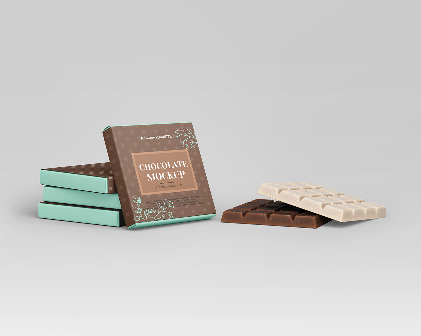 Free Bar of Chocolate Mockup PSD