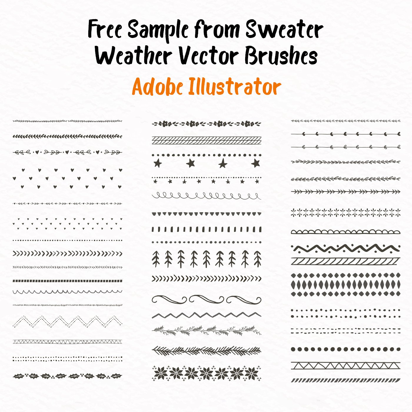Free Brushes Sweater Weather Sample Ai
