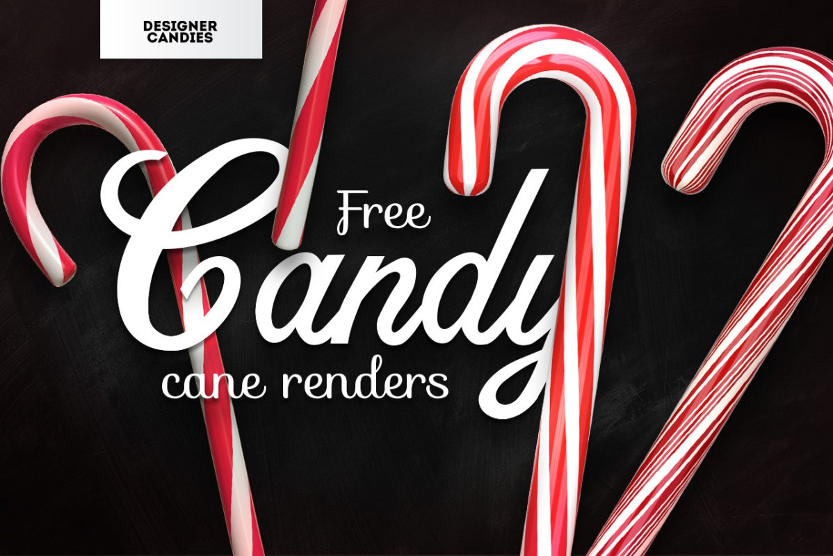 Free Candy Cane 3D Renders PNG