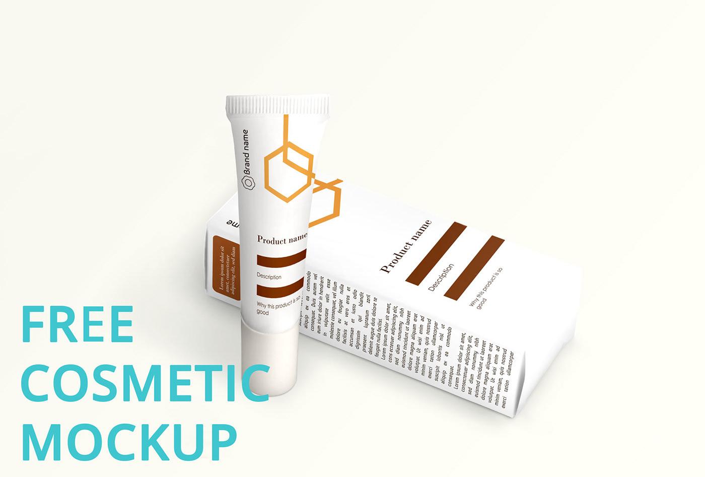 Free Cosmetic Mockup (v1) PSD