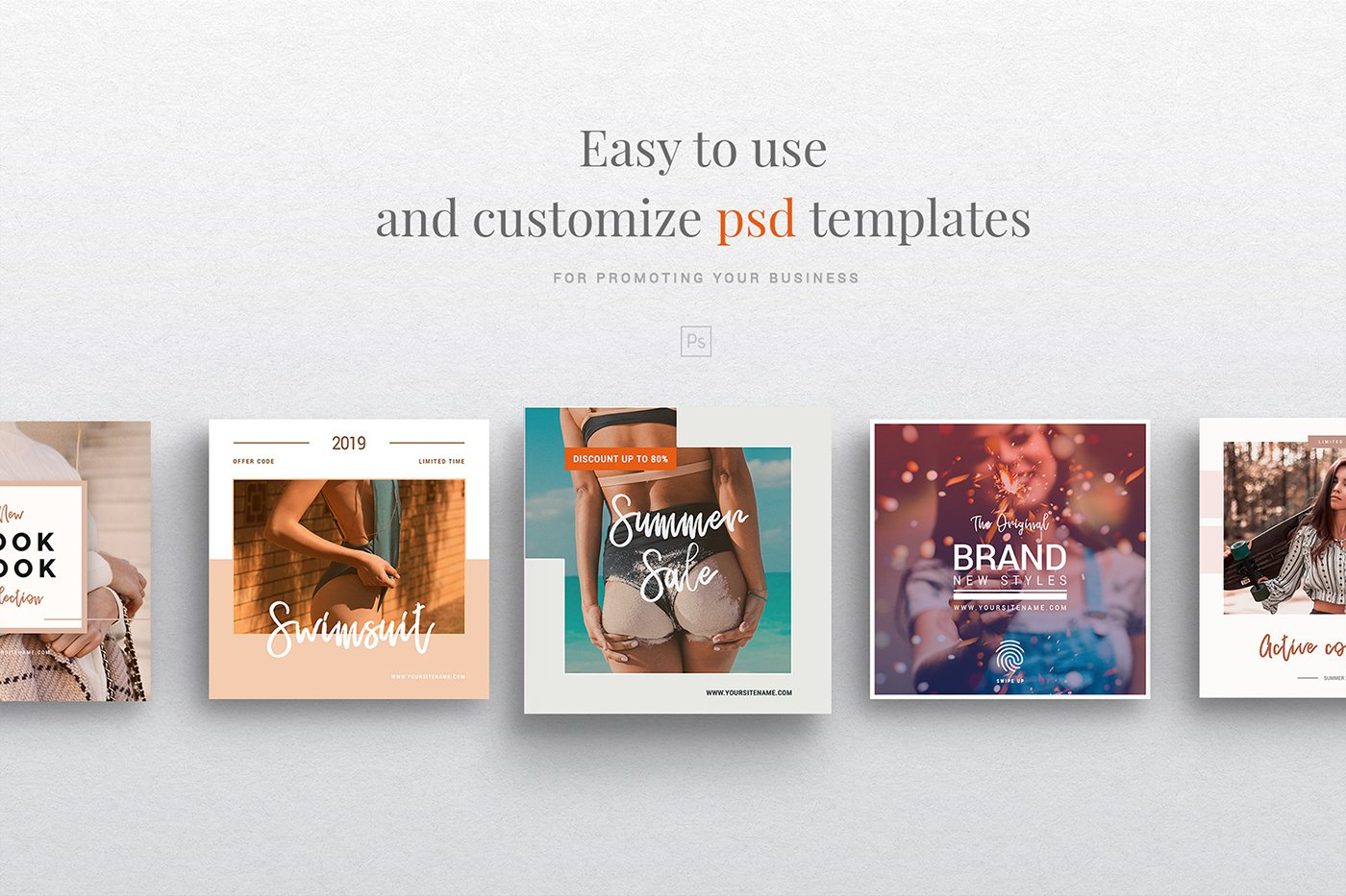 Free Instagram Templates Social Media Fashion Pack PSD