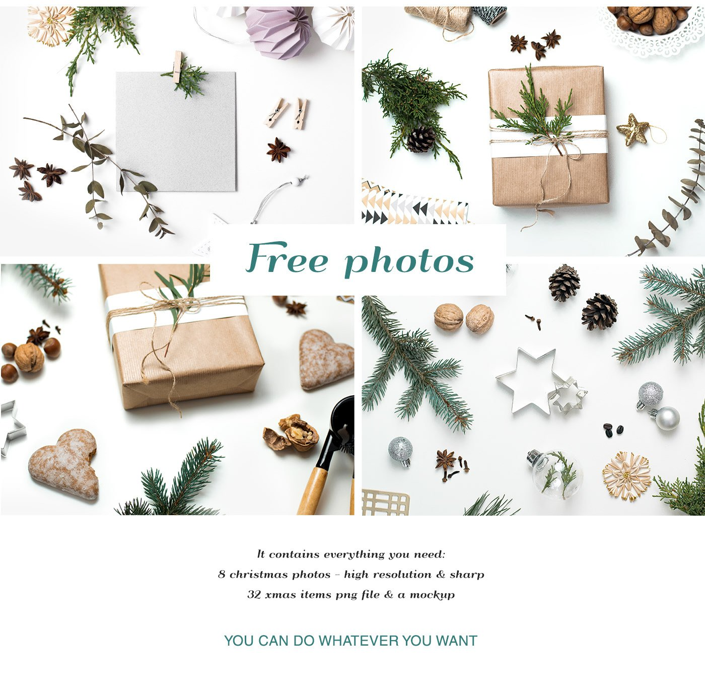 Free Christmas Mockups Collection PSD PNG