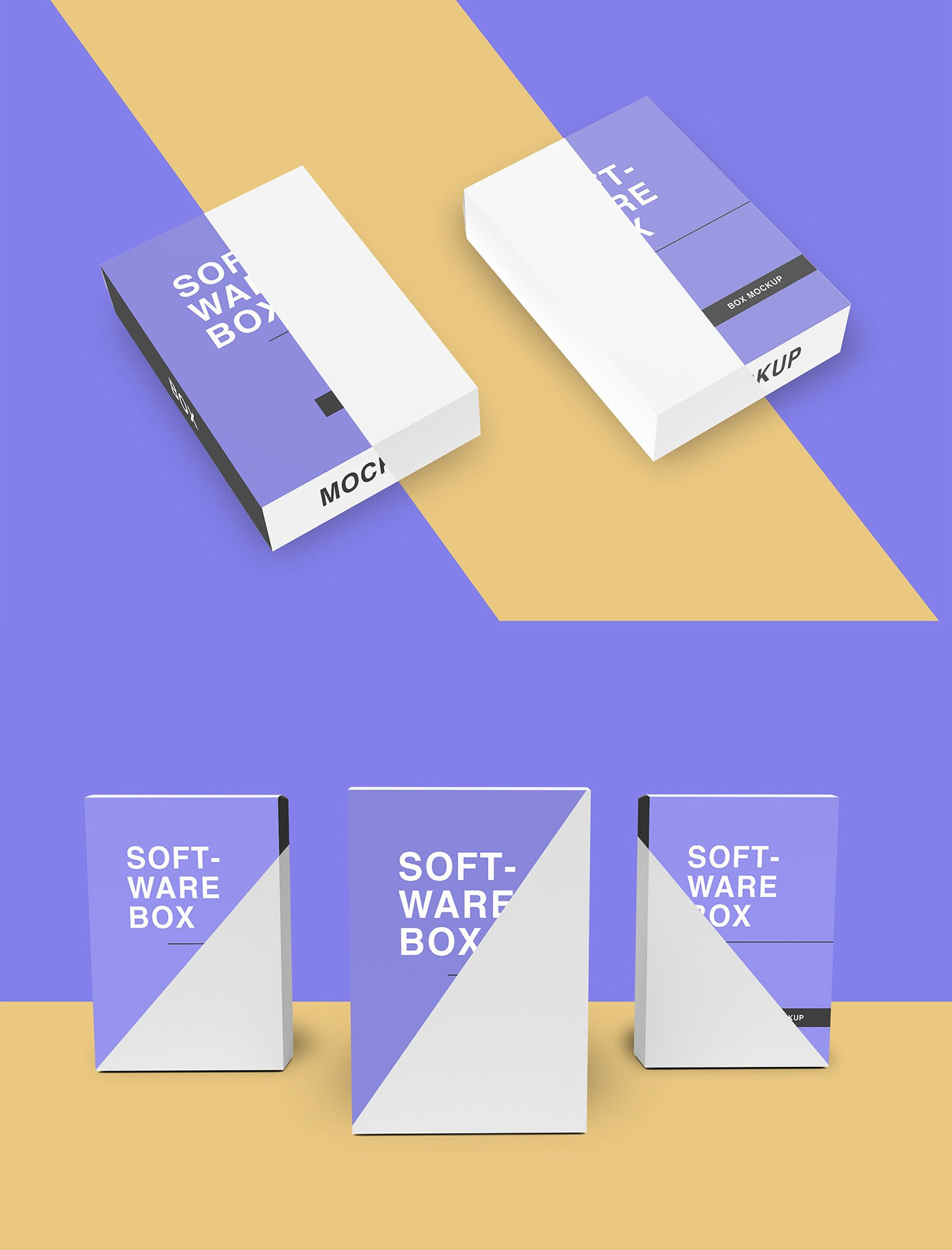 Free Software Box Mockup Set