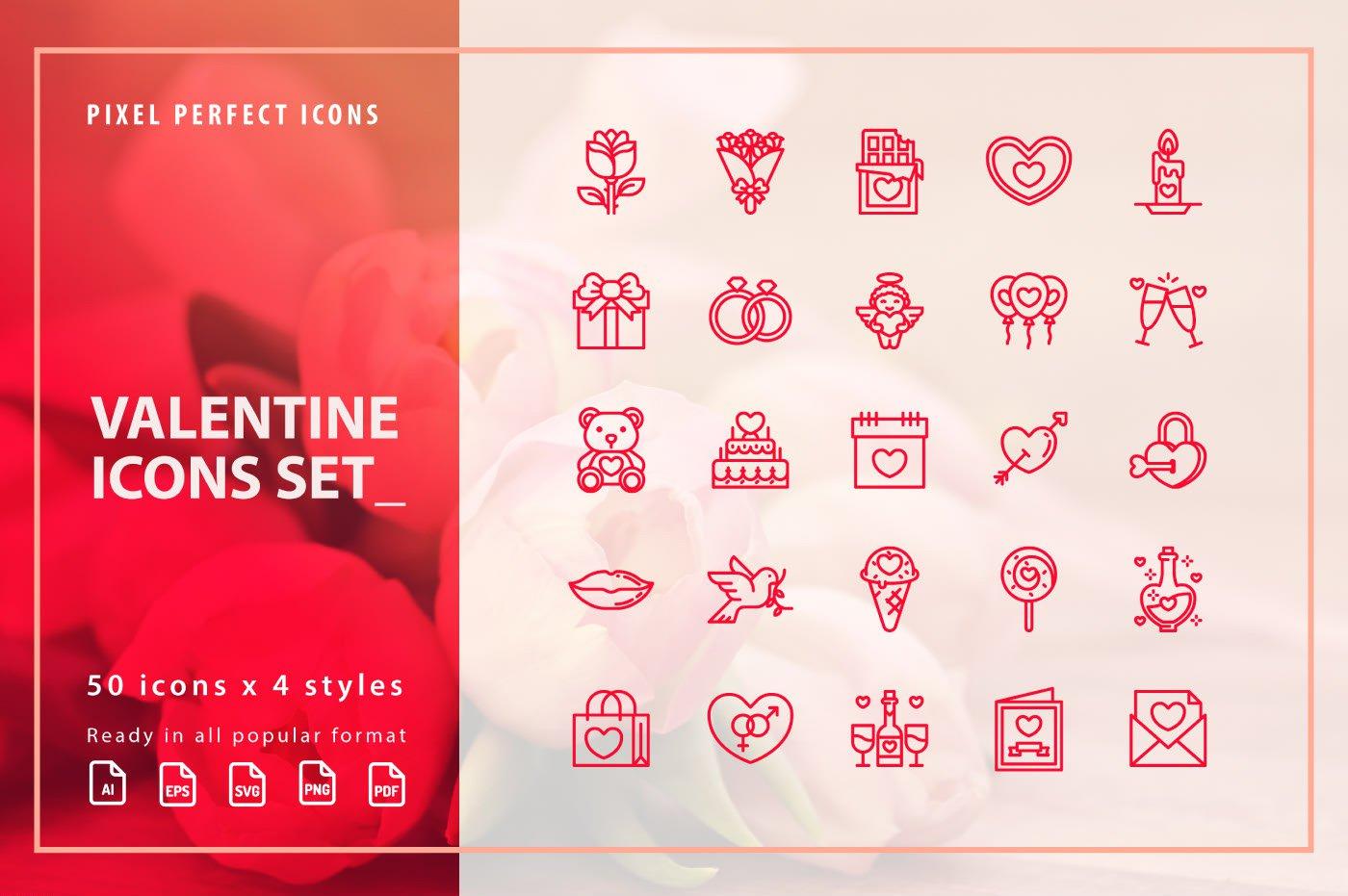 Free Valentine Icon Set
