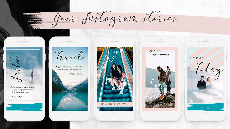 Free Lifestyle Instagram Templates Kit скачать