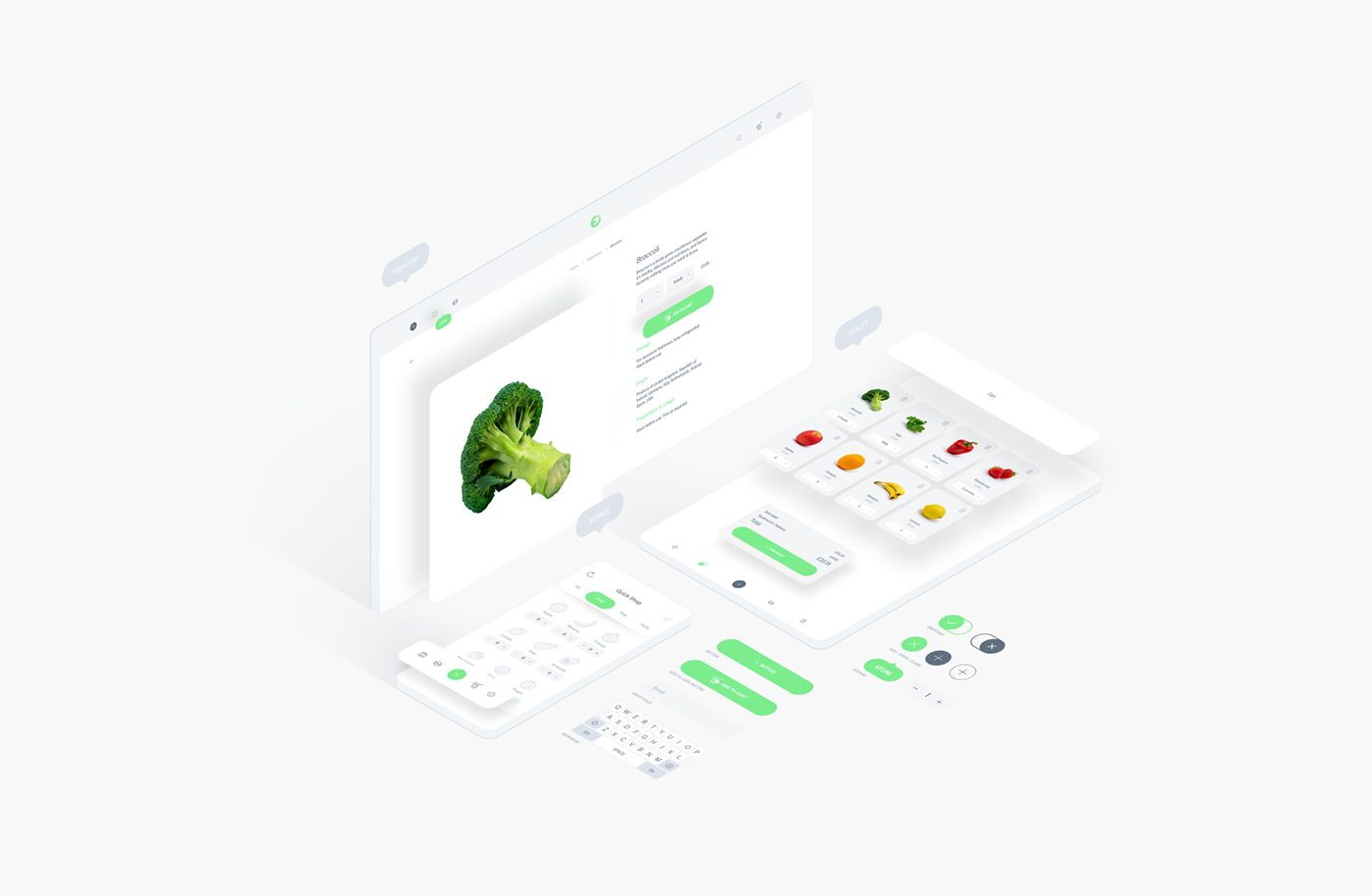 Free Fresh Food UI Kit for Adobe XD