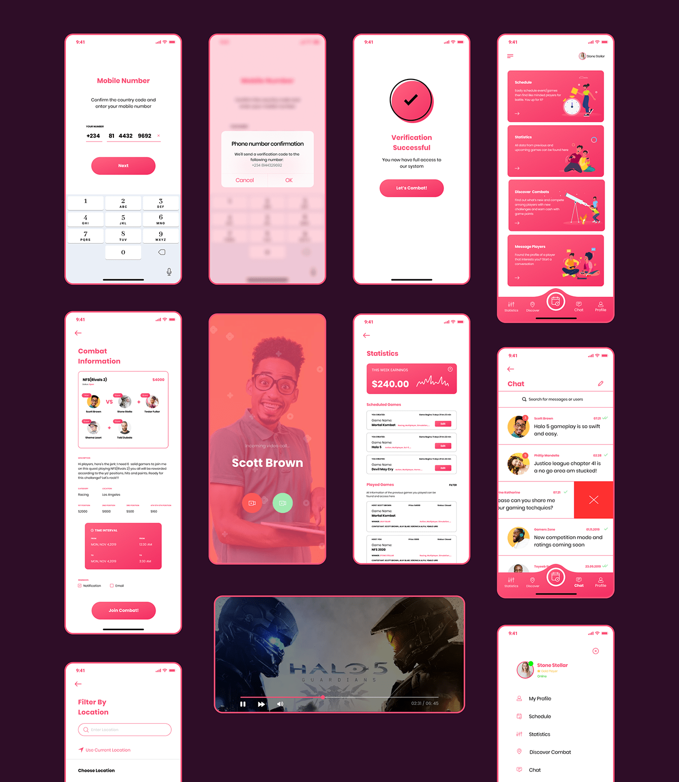 Gaametiime Mobile UI KIT