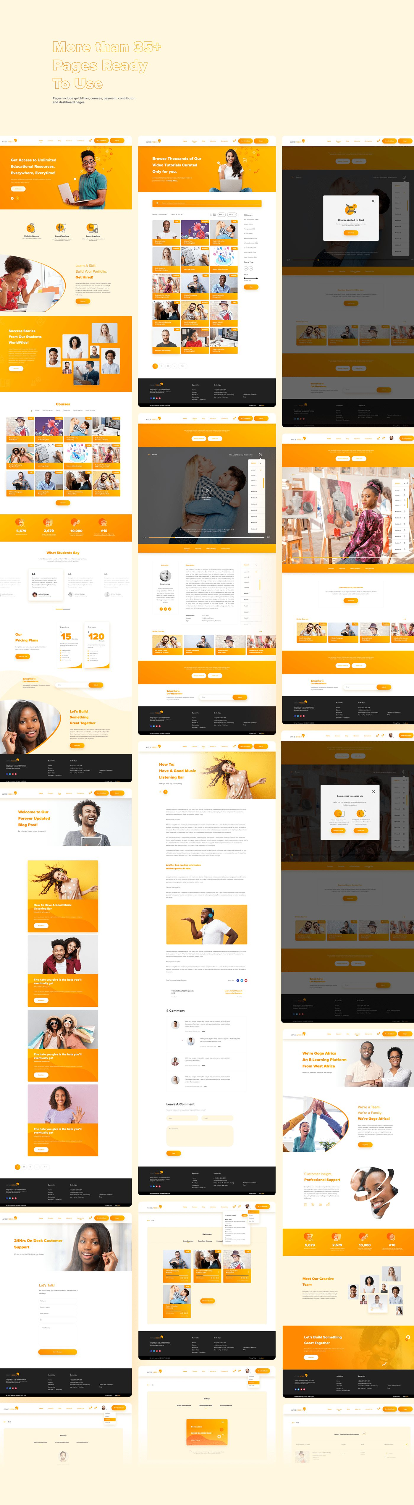 Goge Africa E-learning Workflow Figma UI Kit Free