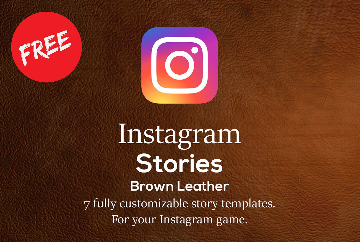 Instagram Stories Brown Leather set