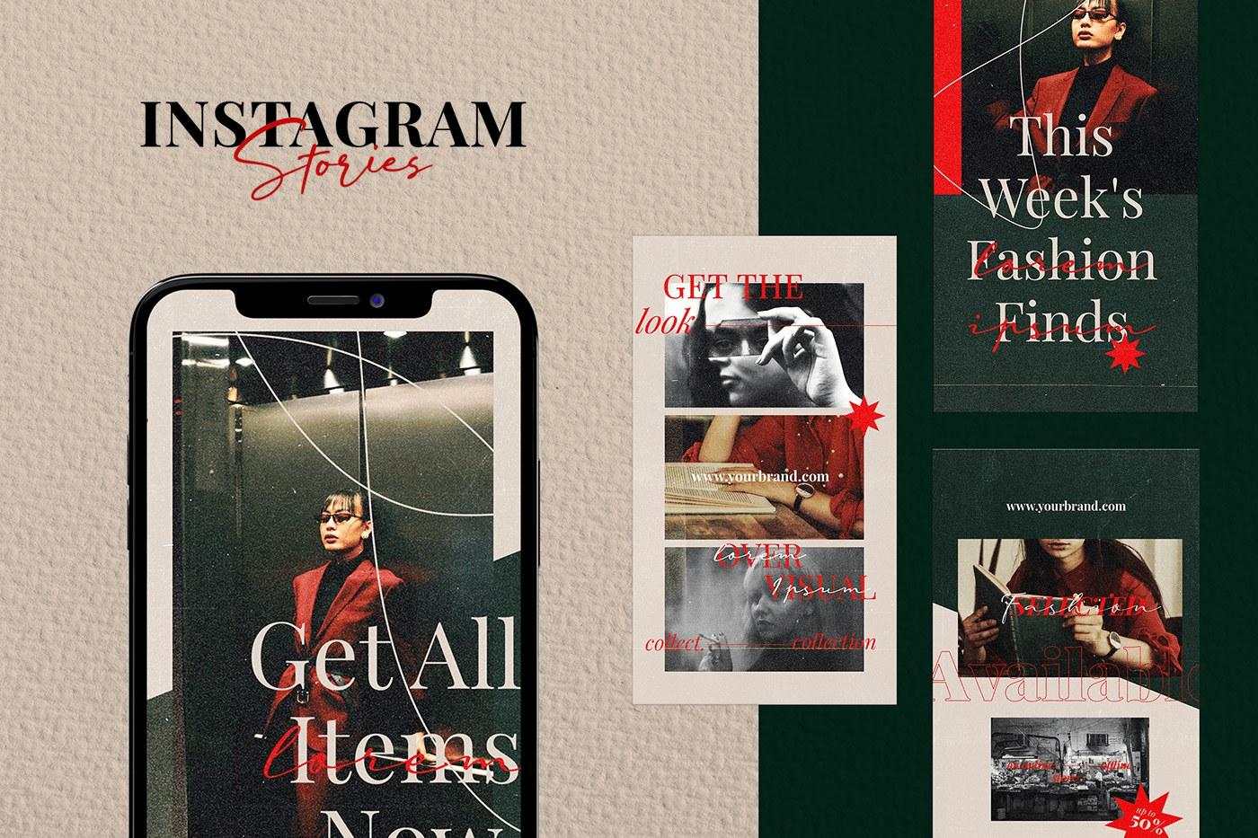 Free Instagram Stories - Bruts PSD